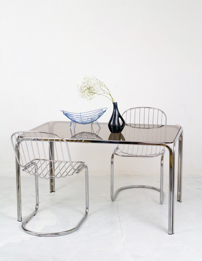 Set of 4 Chrome Chairs 1970-10
