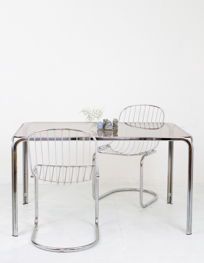 Set of 4 Chrome Chairs 1970-9