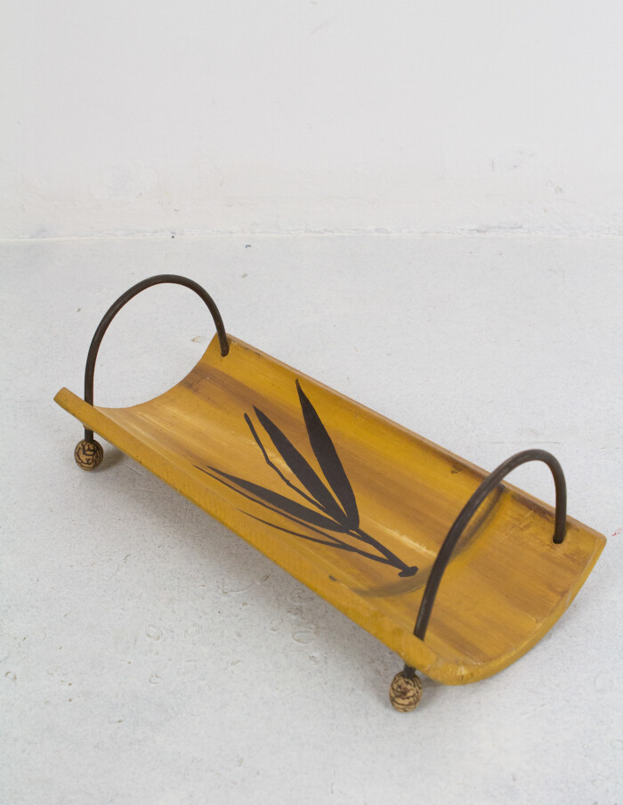 Vintage Bamboo Serving Tray-1