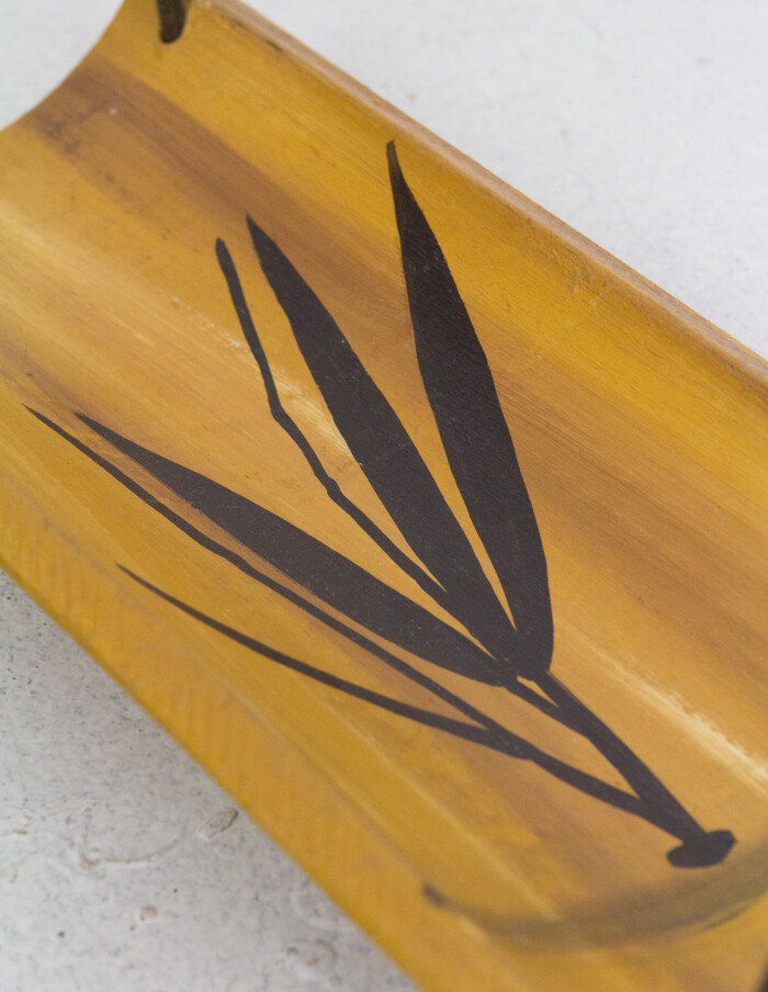 Vintage Bamboo Serving Tray-4