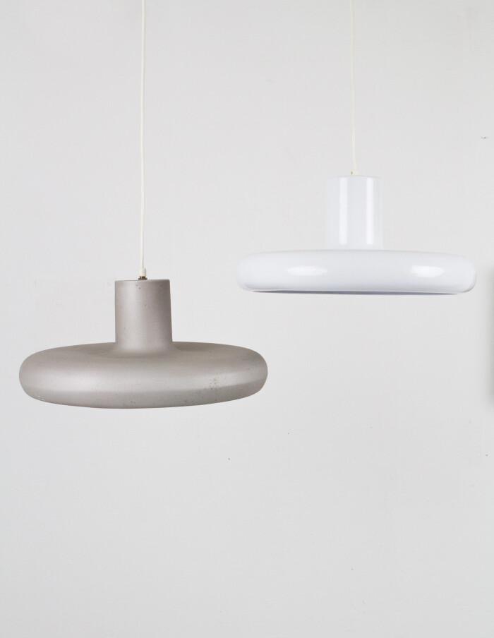White Curvy Metal Pendant