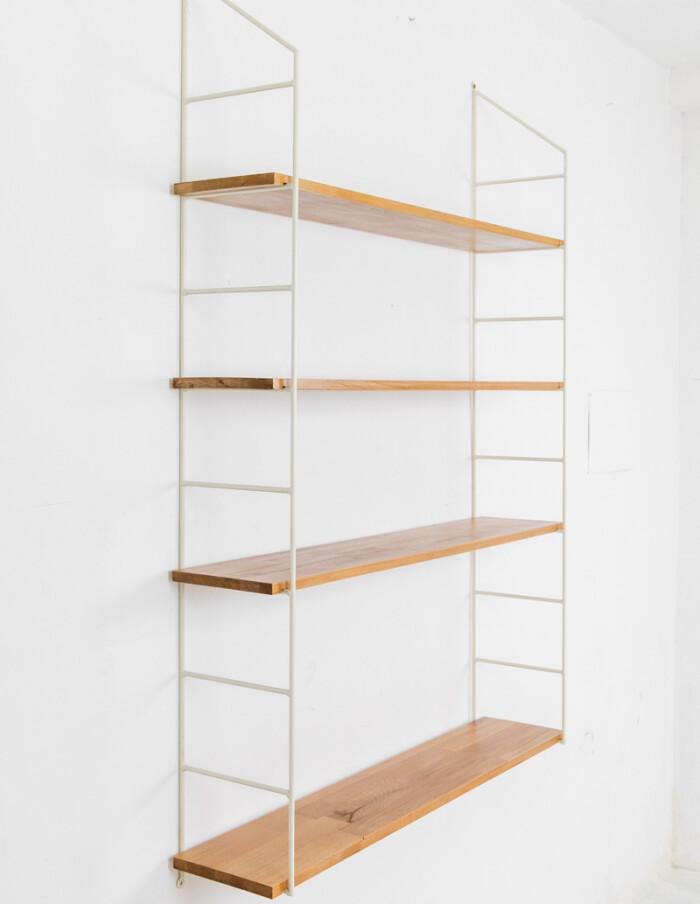 Beige Oak Shelves Perfectly Resored with 4 Shelves-1
