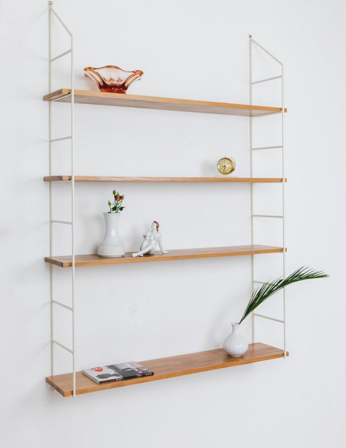 Beige Oak Shelves Perfectly Resored with 4 Shelves-6