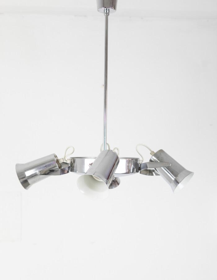 Chrome Pendant with 4 Adjastable Lights-2