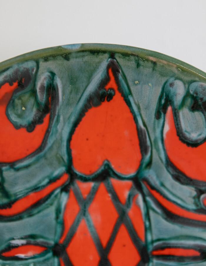 Crayfish Ceramic Plate by Borsfay Judit-4