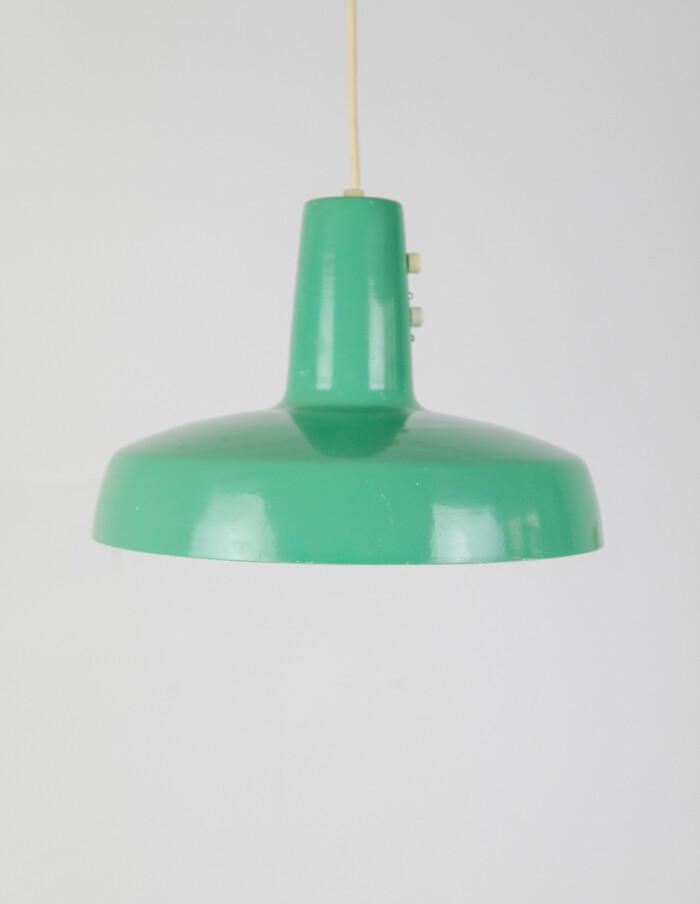 Green Metal Lamp by Sándor Heller-1
