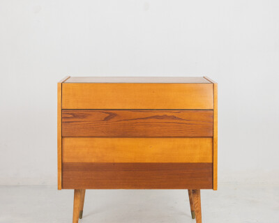Mid-Century Bar Cabinet with Bottle Holder