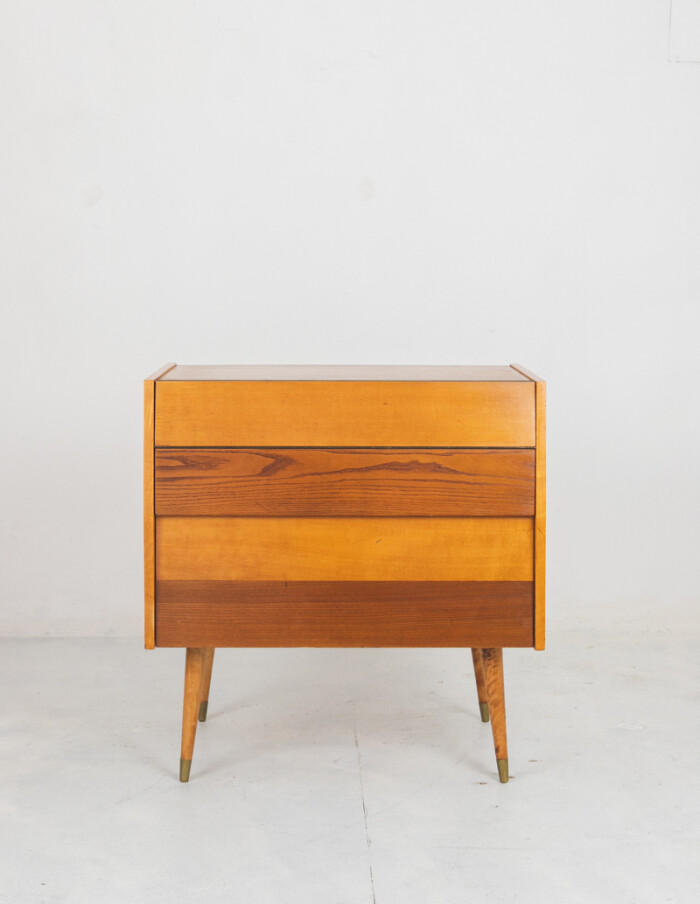 Mid-Century Bar Cabinet with Bottle Holder-1