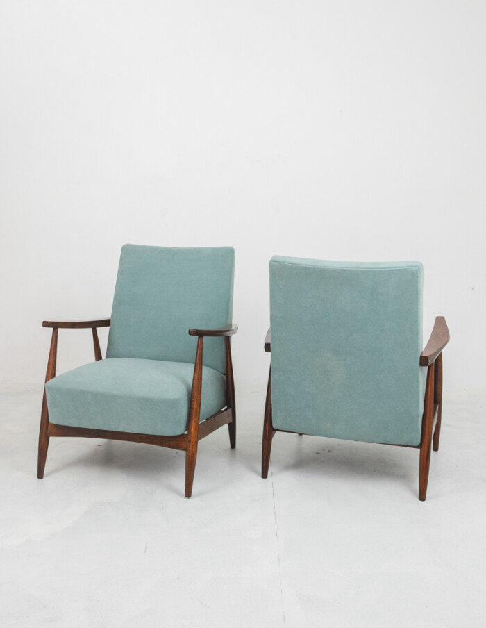 Mid-Century Restored Armchair with New Upholstery-2