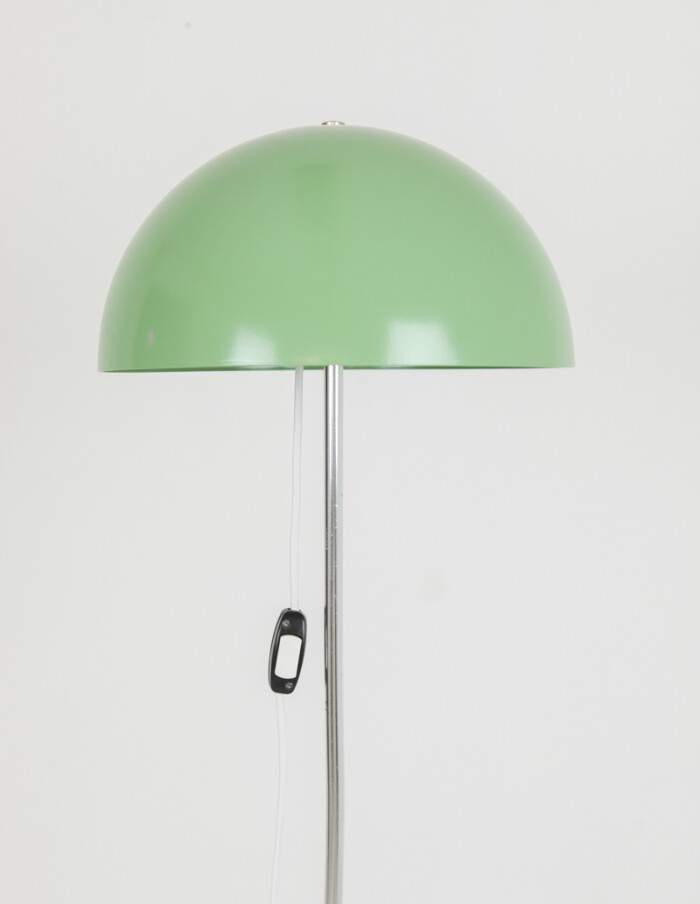 Pretty Green Floor Lamp with Wooden Sphere Decoration-2