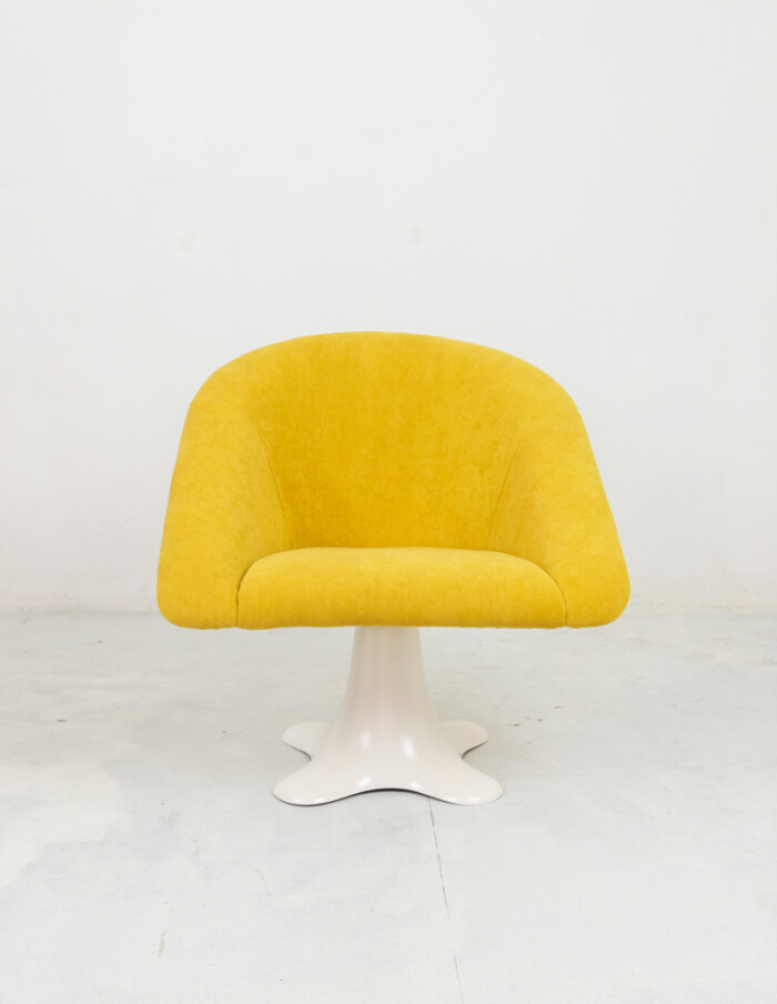 Space Age Chair with Stunning Yellow Upholstery-2