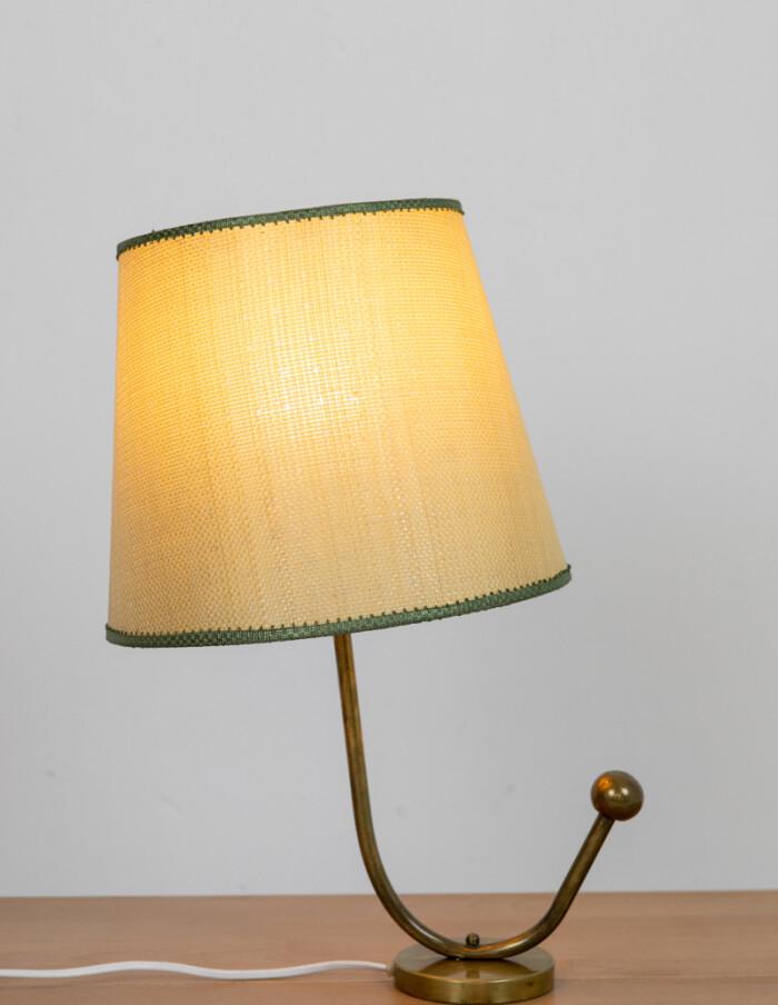 Unique Copper Table Lamp with Original Shade-8