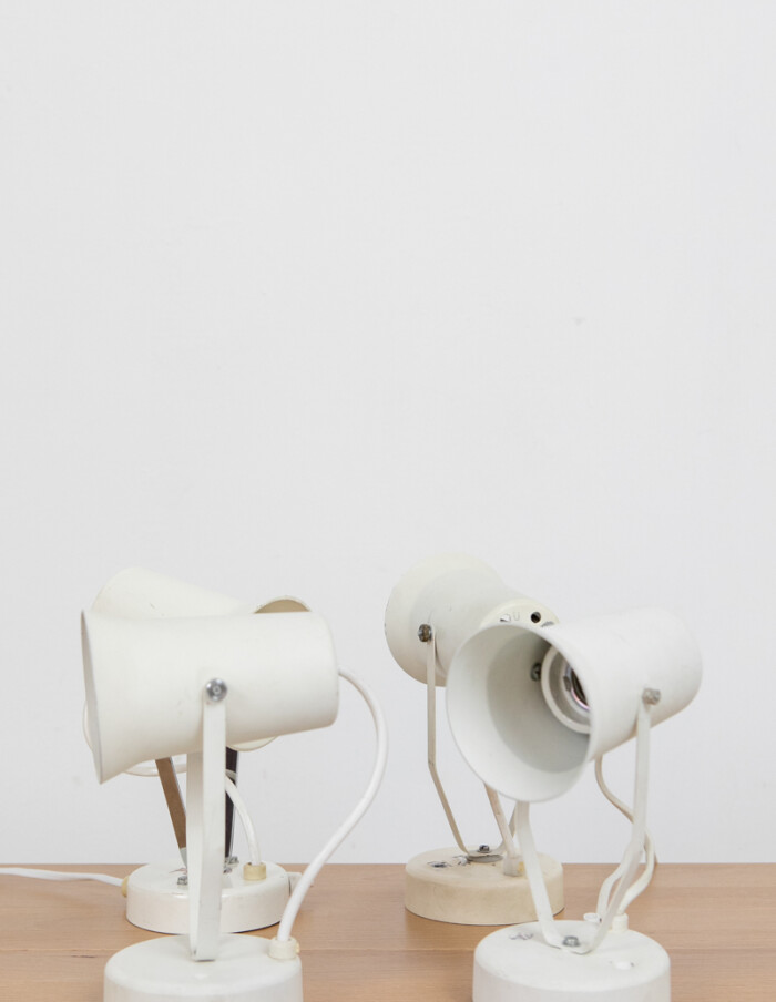 White Small Size Adjustable Wall Table Lamps -1