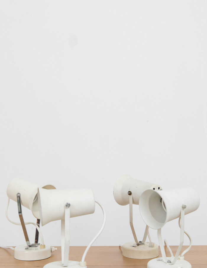 White Small Size Adjustable Wall Table Lamps -2