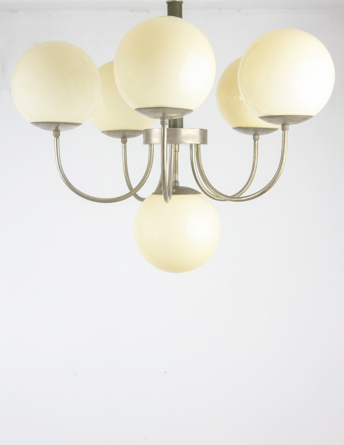 Art Deco Chandelier with Glass Shades-2