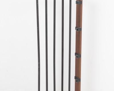 Black Coat Rack with Copper Parts, 1970's
