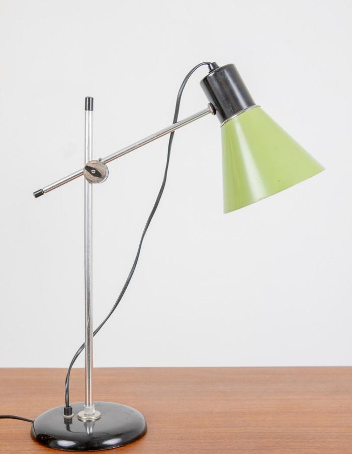 Green Metal Table Lamp, 1970s-2