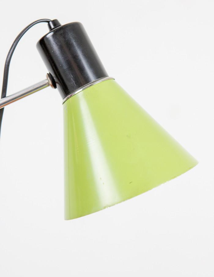Green Metal Table Lamp, 1970s-3