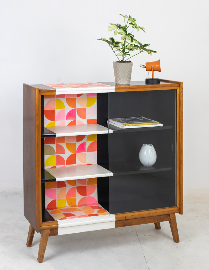 Hand Painted Mid-Century Cabinet by Erika Balogh-11