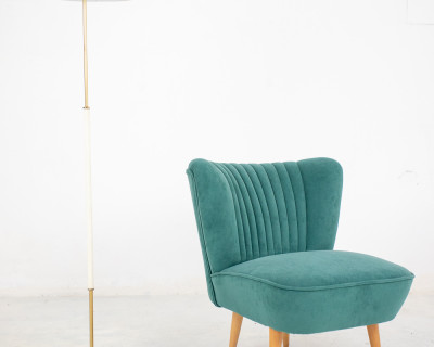 Iconic Restored Clubchair with Fresh Upholstery, 1960's