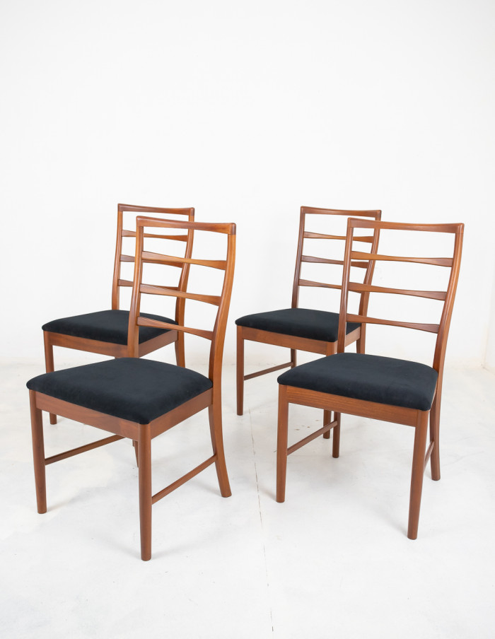 Set of 4 Restored McIntosh Dining Chairs-1