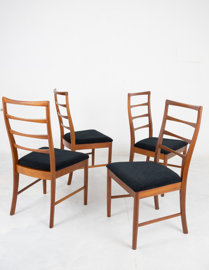 Set of 4 Restored McIntosh Dining Chairs-4