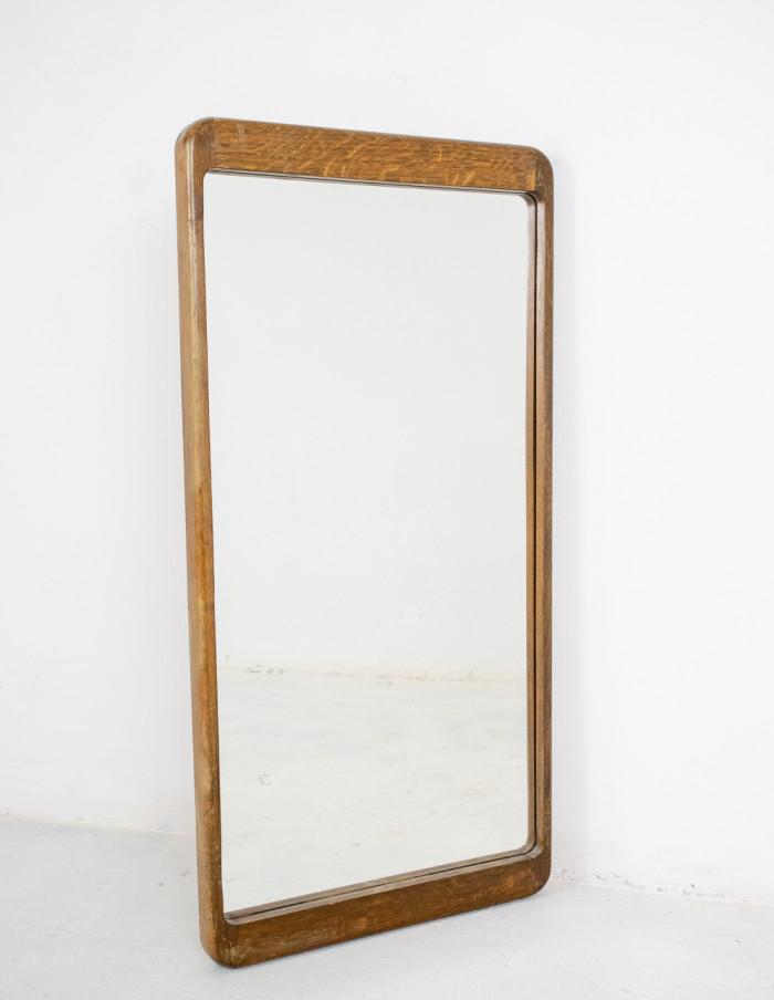 Wooden Framed Mirror, 1970s-1